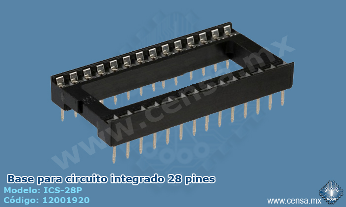 ICS-28P Base para IC 28 pines