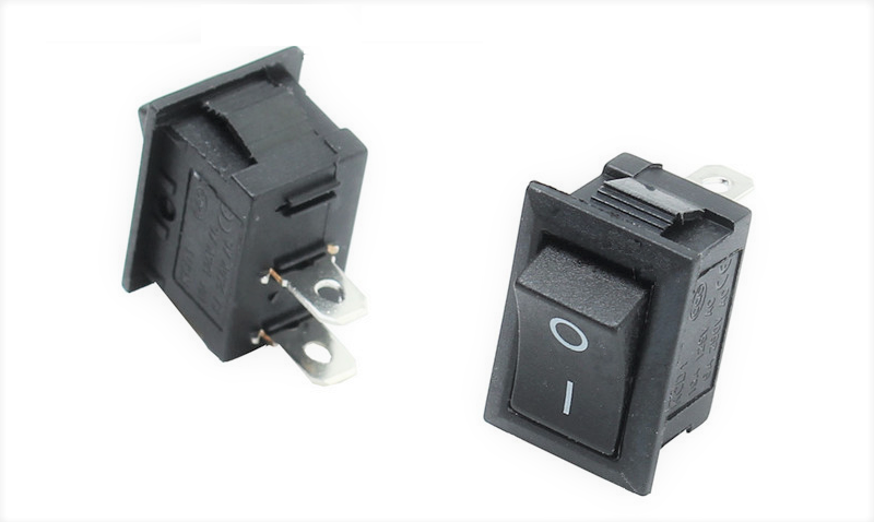 R112-BL-04/SH Rocker Switch 1P/1T 10A 125V