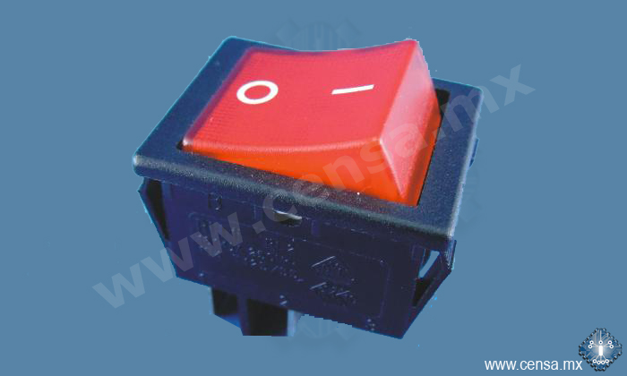 R212-LRL-16/SN-TB Rocker Switch Ilum. 2P/1T 16A - 125VCA