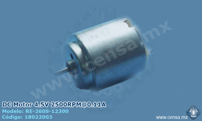 RE-260S-12300 DC Motor 4.5V 2500RPM@0.11A