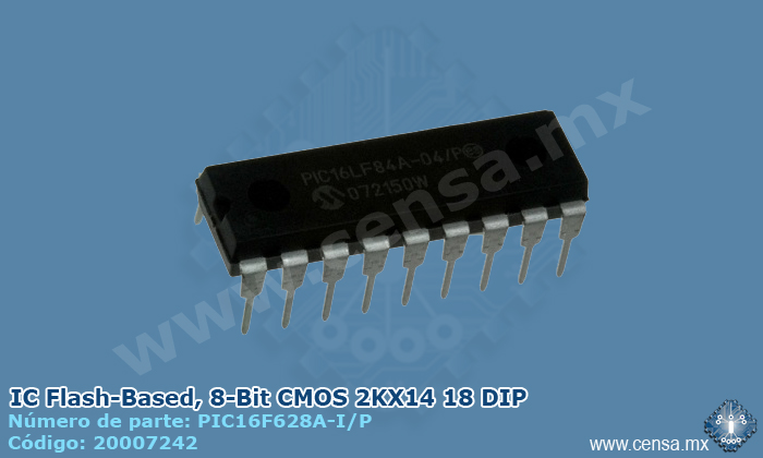 PIC16F628A-I/P MCU 8BIT 3.5KB FLASH 18DIP