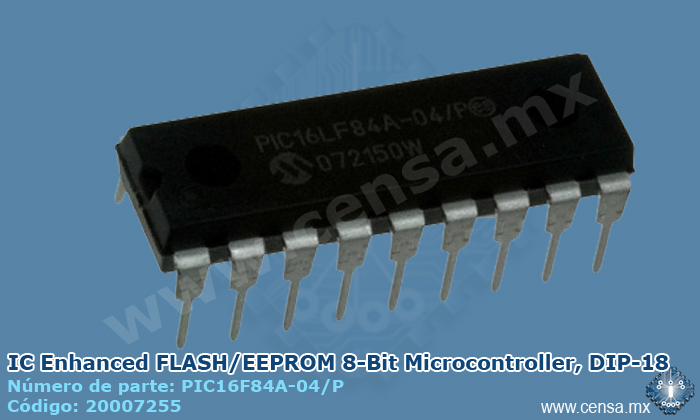 PIC16F84A-04/P IC MCU FLASH 1KX14 EE 18DIP