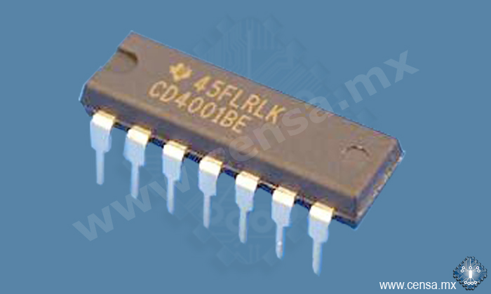 CD4001BE IC Quad 2-IN Nor Gate DIP-14