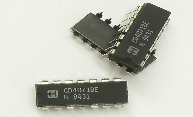 CD4071BE IC 2-IN or Gate Quad DIP-14