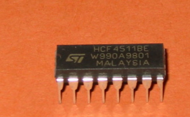 HCF4511BEY | IC BCD-TO-SEVEN  DIP-16