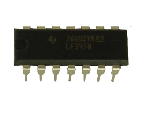 LF347N IC OP AMP Quad JFET WIDE DIP-14