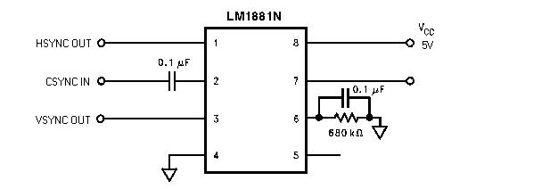 LM1881N | IC Video SYNC Separator DIP-8