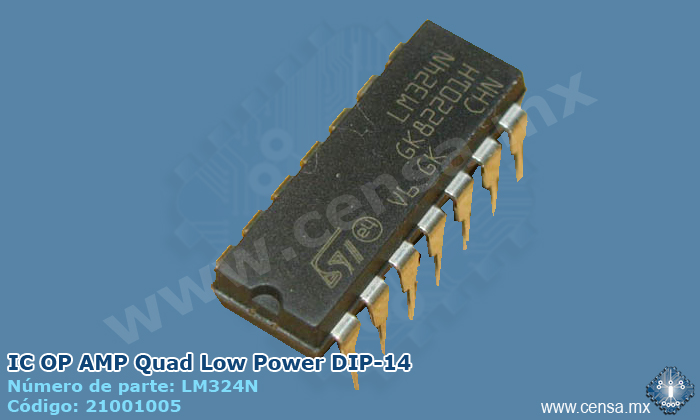 LM324N IC OP AMP Quad Low Power DIP-14