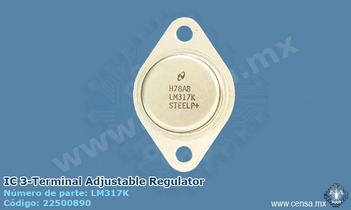 LM317K IC 3-Terminal Adjustable Regulator