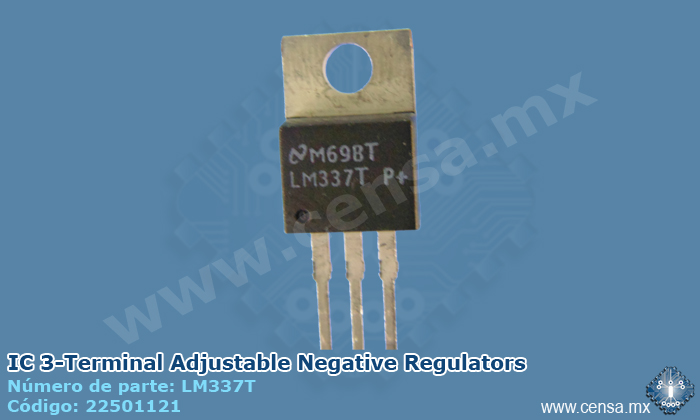 LM337T IC 3-Terminal Adjustable Negative Regulators