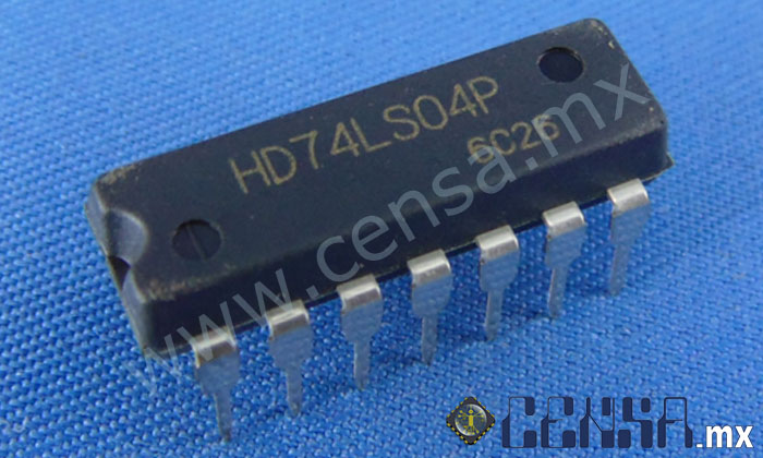 HD74LS04P Circuito Integrado Inversor Sextuple DIP-14