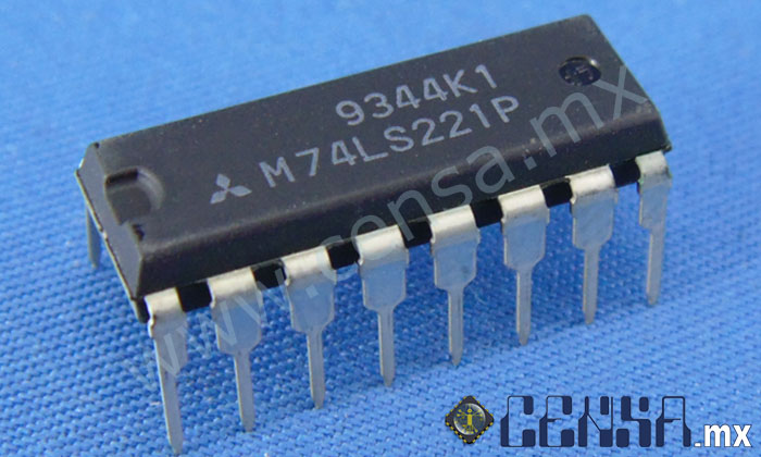 M74LS221P IC Dual Non-Retriggerable DIP-16
