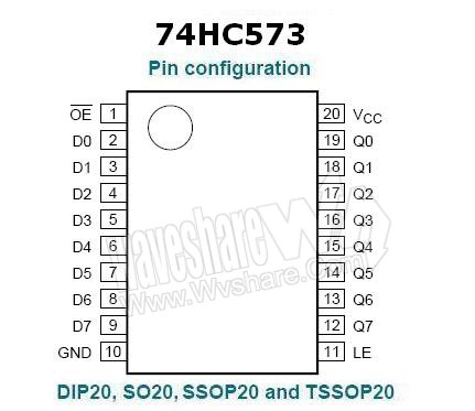SN74HC573ADWR | IC OCT D-TYPE SOIC-20