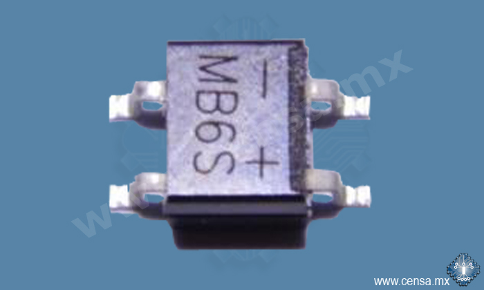 MB6S Puente Rectificador SMD Tipo IC 0.5A 600V