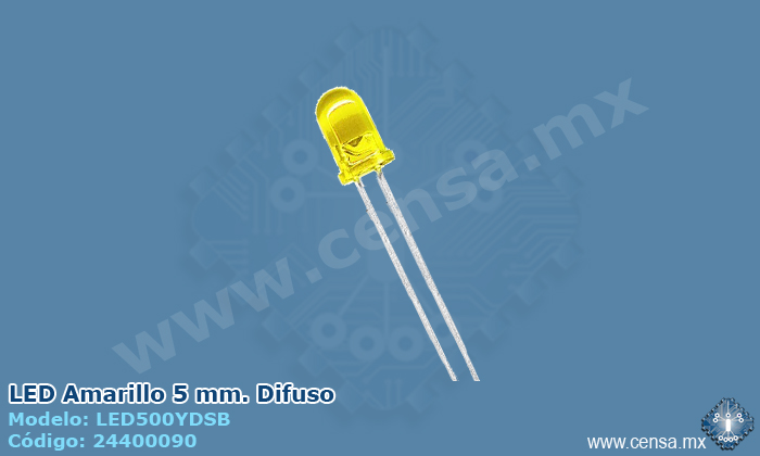 LED500YDSB LED Amarillo 5mm. Difuso