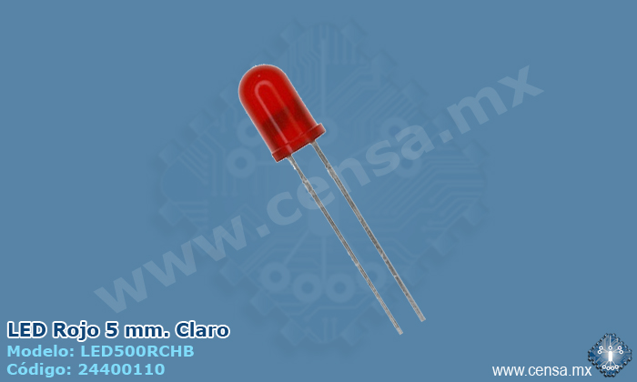 LED500RCHB LED Rojo Claro 5mm.