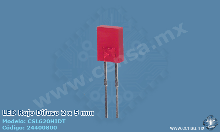 CSL620HIDT LED Rojo Difuso 2 x 5mm