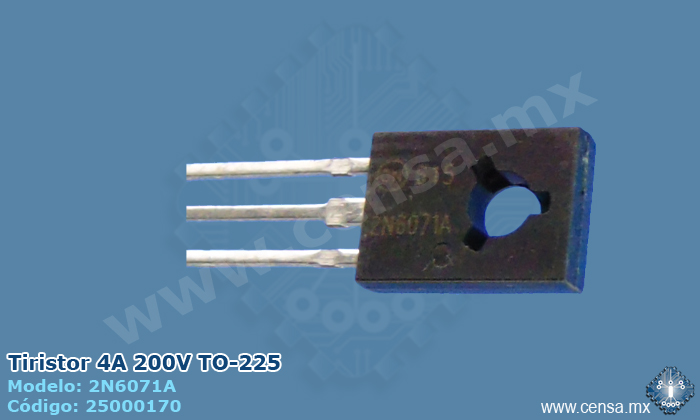 2N6071A Tiristor Triac 200V, 4A, TO-225