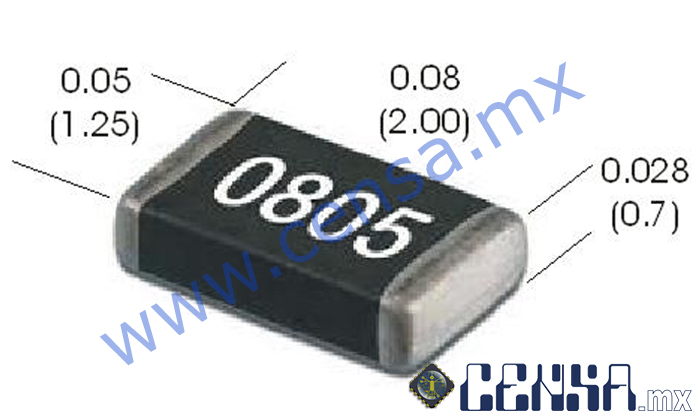 RT0805DRE071KL Res. SMD 0805 1% 50ppm 1K