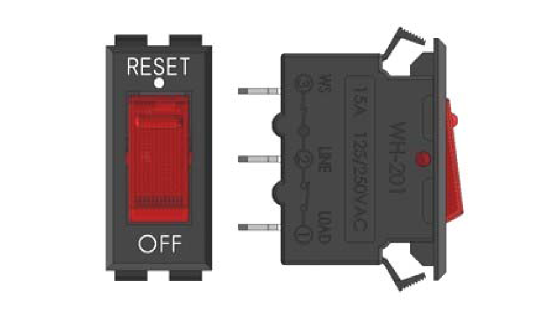 WH201DHD15 | Reset Rocker Switch 125V 15A