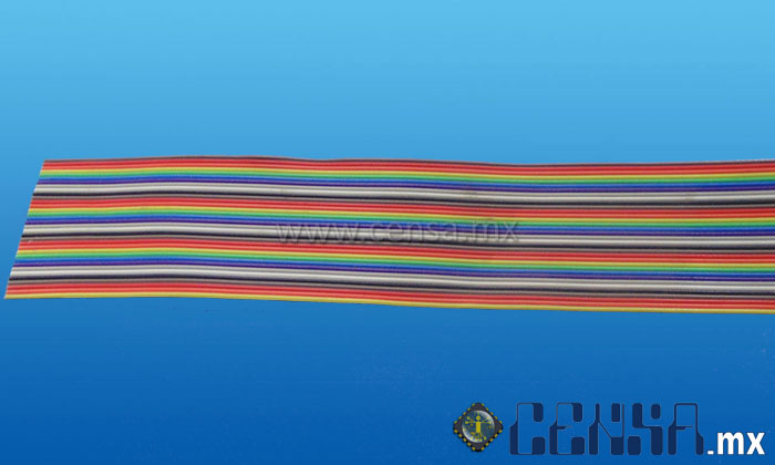 105700CP | (3302/34) Cable 28 AWB, Multicolor 34 vías, Rollo 30.48 mts.