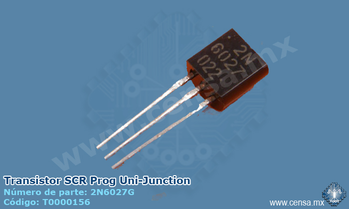 2N6027G | Transistor SCR Prog Uni-Junction (T0000156)