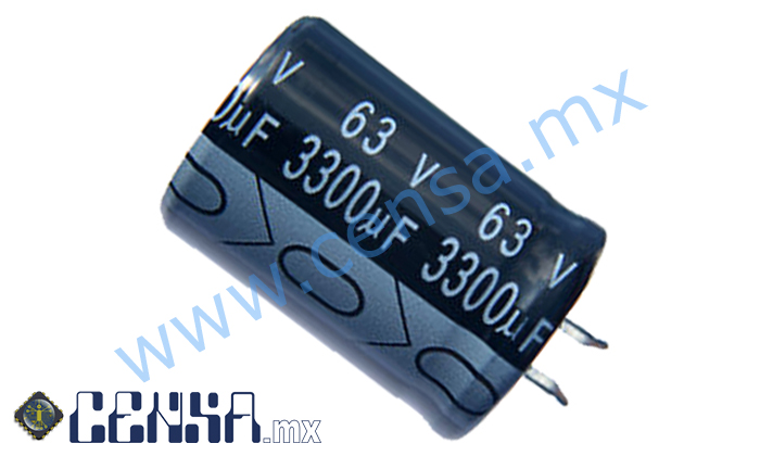 3300MFCE63 | Capacitor electrolítico 3300µF 63V (T0000213)