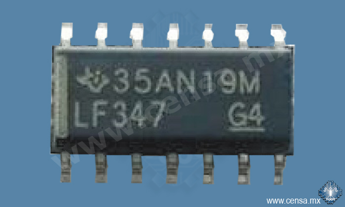 LF347DR OPAMP JFET 3MHZ 14SOIC